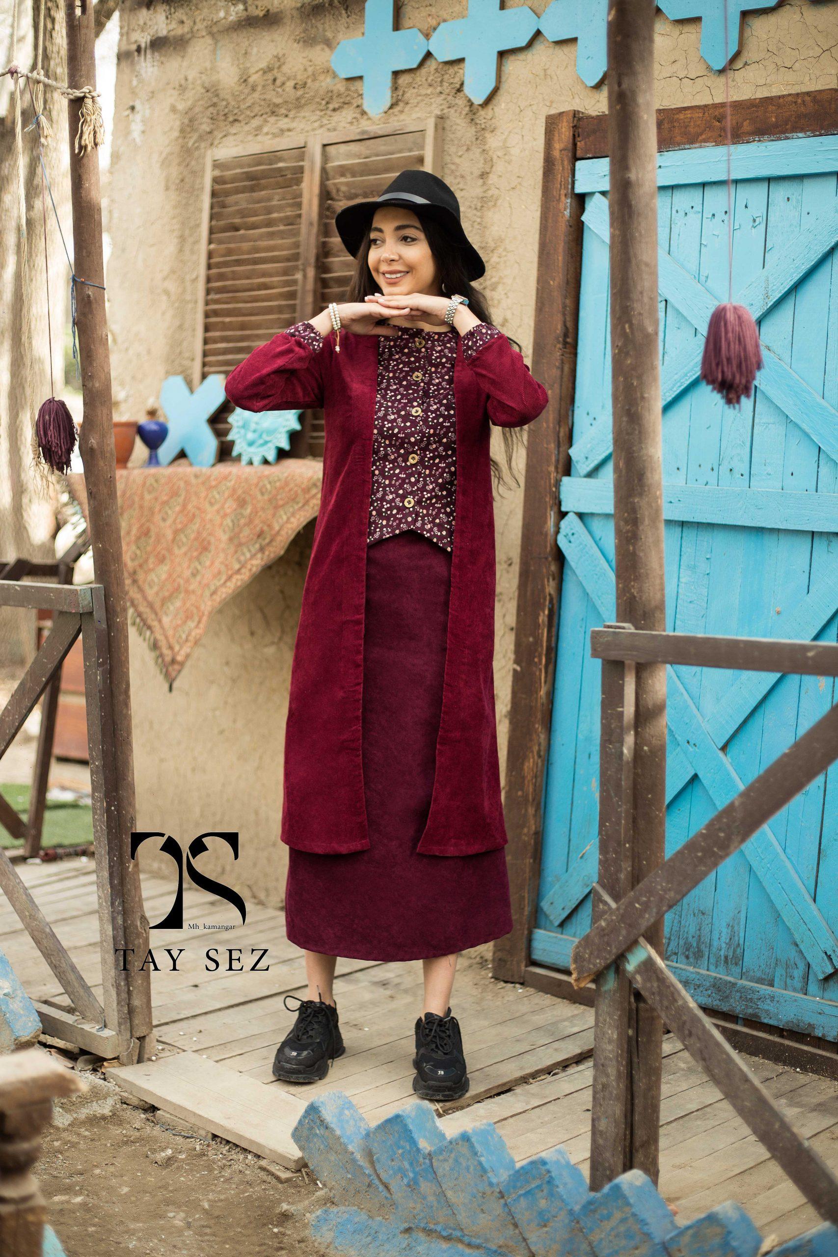 مدل مانتو بلند جدید تایسز سنتی گلدار