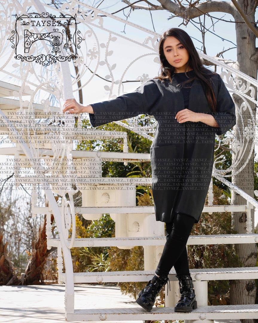 مدل مانتو مشکی تایسزژاکاردتابستانی