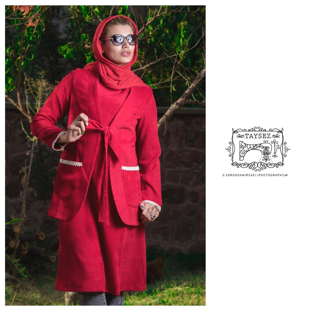 مانتو مدل سنتی تابستانی زمستانی تایسز دوتیکه قرمز