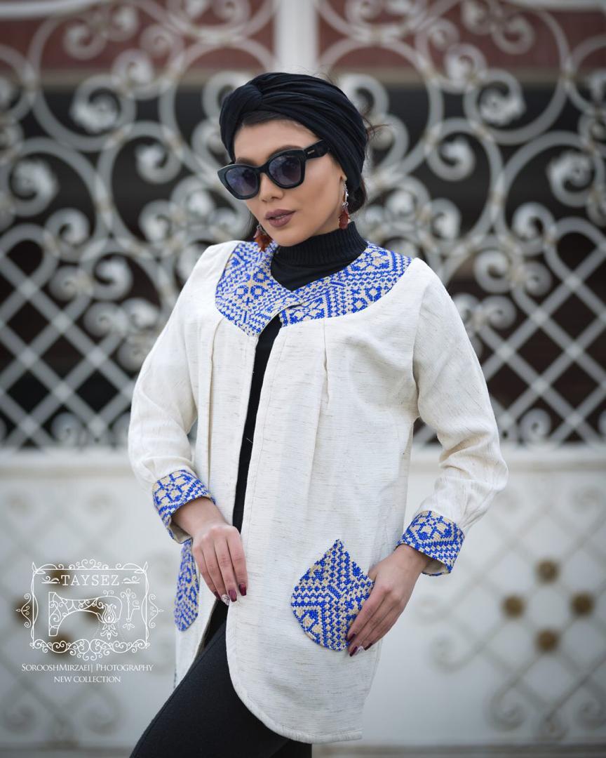 مانتو مدل سنتی تابستانی ترکیبی سفید