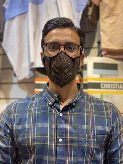ماسک تایسز قهوه ای لویی ویتون