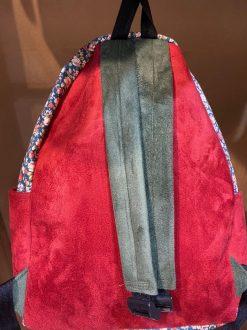 کوله پشتی سبک و ارزان طرح گلدار قرمز